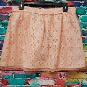 Forever 21 Orange  Double layer skirt large